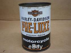 Vintage Harley Davidson Quart Oil Tin Can Metal Pre-luxe Antique Sign
