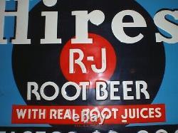 Vintage Hires Root Beer metal tin embossed advertising Vintage Sign