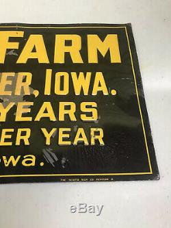 Vintage Iowa Corn Farm Advertising A. M. Cloud Manchester, Iowa Embossed Tin Sign