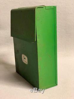 Vintage John Deere Mail Box File Tin 1956- 4 leg