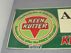 Vintage KEEN KUTTER advertising Tin Sign CAIRO, Missouri Original Sign columbia
