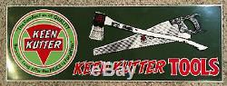 Vintage Keen Kutter Tools Advertisement Tin Metal Sign 21 x 7.5 Embossed