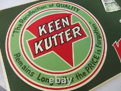 Vintage Keen Kutter Tools Advertising Tin Sign Excellent Condition 293-z