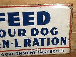 Vintage Ken-L-Ration Dog Food Metal Tin Sign Dealer Advertising