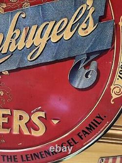 Vintage Leinenkugel's Beer Tin Sign Unique And Rare 24