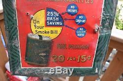 Vintage Lord Salisburg Cigarette Tobacco Tin Sign Original Advertising Metal
