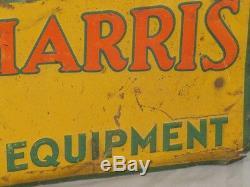 Vintage MASSEY HARRIS Farming Equipment Tin SIGN Original tractor EMBOSSED