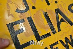 Vintage MORGAN WOODWORK TIN TACKER SIGN ELIASON INC NEW CASTLE PA 20 x 14