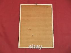 Vintage Marchal Corindon Isolant Savoie Spark Plug Sign Tin over Cardboard