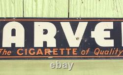 Vintage Marvels Cigarette Advertising Tin Tacker Sign Collectible Tobacciana