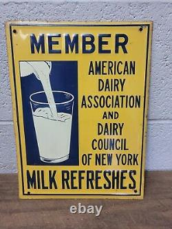 Vintage Member of American Dairy Assoc. Embossed Tin Sign 9 x 12 FARM SIGN