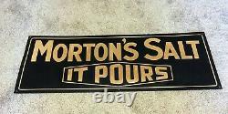 Vintage Morton Salt Embossed Tin Sign