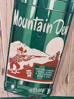 Vintage Mountain Dew Advertising Sign Vertical Tin Mountain Dew Sign