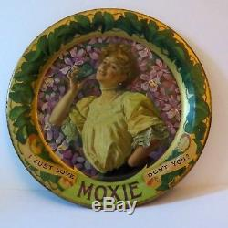 Vintage Moxie Tin Lithograph Tip Tray 1920'S