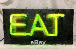 Vintage Neon Eat Tin Can Sign