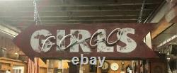 Vintage Neon Sign Go Go Girls Old Tin Can Arrow New Paint & Neon Can Ship