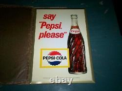 Vintage Nos Pepsi Cola M 239 Tin Metal Advertising / Counter / Wall Sign