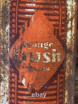 Vintage Orange Crush Advertising Tin Embossed Sign