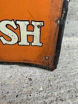 Vintage Orange Crush Sign Tin Embossed Advertising Sign Orange Crush