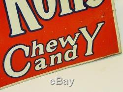 Vintage Original 1920's Tootsie Rolls Candy Tin Sign, Donaldson Art KY