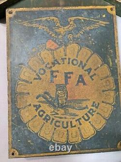 Vintage Original 1920s/30s RARE Future Farmers of America Tin Sign Primitive