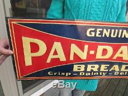 Vintage Original 1926 Genuine Pan-dandy Bread Advertising Sign Tin Tacker Nos