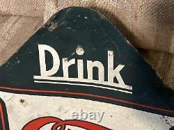 Vintage Original 1941 Cleo Cola embossed Tin Soda Sign