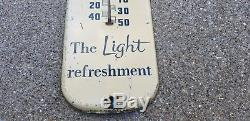 Vintage Original 1954 Embossed Tin Pepsi Cola Thermometer Sign Works Great