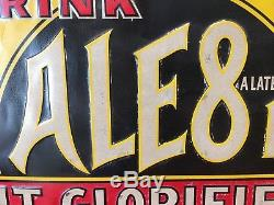 Vintage Original Ale-8-1 IT GLORIFIES tin sign Ale 8 1 Ale-8-one VG+