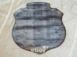 Vintage Original Canada Dry Tin Crest Shield Advertising Sign C-1619 AAW