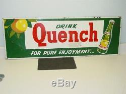 Vintage Original Drink Quench, Soda Pop Advertising Tin Sign