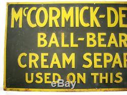 Vintage Original IH Farmall Mccormick Deering Cream Separator Embossed Tin Sign