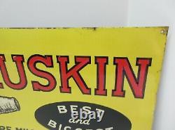 Vintage Original John Ruskin Cigar Advertising Tin Embossed Sign