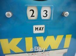 Vintage Original Kiwi Boot Shoe Polish Tin Calendar Sign. Made In England