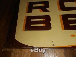 Vintage Original ROCHESTER ROOT BEER Tin Embossed Metal Soda Advertising SIGN