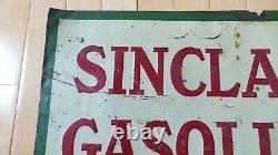 Vintage Original Sinclair Oil Co. Sinclair Gasoline Embossed Tin sign Rare