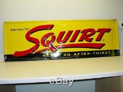 Vintage Original Switch To Squirt, Soda Pop Advertising Tin Sign, 1967