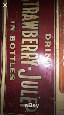 Vintage Original Tin Soda Tackers 4 For One Price. Rustic