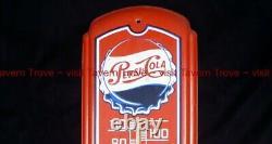 Vintage PEPSI COLA Single Dot 26½ x 8½ inch tin thermometer
