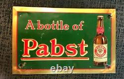 Vintage Pre-pro Pabst Beer Brewing Toc Tin Over Cardboard Sign Milwaukee Wi