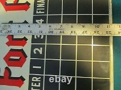 Vintage Rare 1949 Fort Pitt Beer Score Board Tin 2-sided Sign Football Baseball