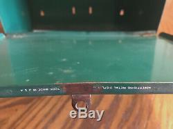 Vintage Rare 1950s Standard Oil Santa Claus Mailbox 17 Tin Box Indiana