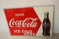 Vintage Rare 1954 Original Coca Cola Bottle Tin Sign Nice! 19 X 27