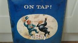 Vintage Rare Guinness On Tap Advertising Tin/metal Sign(original) Genuine