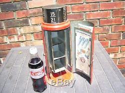Vintage Schrader Tire gauge Cabinet tin sign display Gas oil original 1920s auto