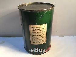 Vintage Sinclair Oil Quart Can Metal Gas Rare Handy Sign Tin Sunoco Texaco Mobil
