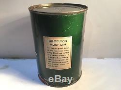 Vintage Sinclair Oil Quart Can Metal gas rare sign tin handy Beacon Mobil Shell