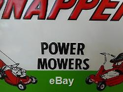 Vintage Snapper Power Lawn Mowers Embossed Tin Sign