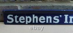 Vintage Stephens Inks & Gum Advertising Tin Shop Shelf Sign