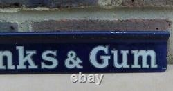 Vintage Stephens Inks & Gum Advertising Tin Shop Shelf Sign